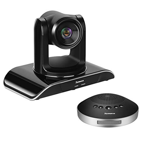 Tenveo 3X-USB Conference Room Camera Video conferencing System Bundle with Wireless Bluetooth Speaker for Business Meetings (3X Zoom VHD3U + A2000B)