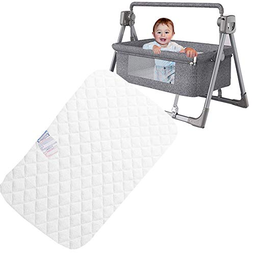 Baby Travel Cots Mattress Toddler Crib Nexttome Foam Moses Basket Comfort Bedding Mattresses Wedge Flathead Pillow Quilted Breathable With Removable Cover Waterproof Protector (83 x 50 x 5 CM)