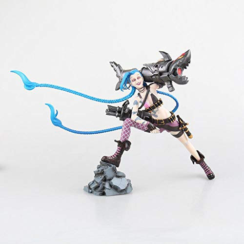 POIUYT Figura De Acción De LOL Fugitivo Lolita Jinx Llevar Armas De Fuego Edición Modelo De Juguete Decoración