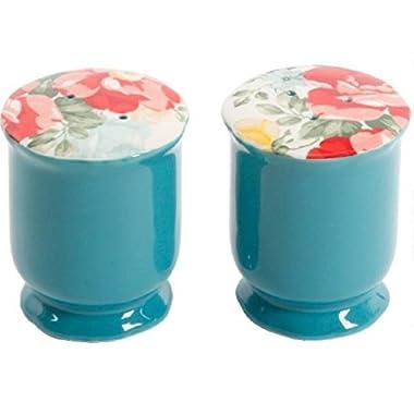 The Pioneer Woman Vintage Floral Ceramic Salt and Pepper Shaker Set