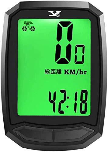 サイクルコンピューター サイコン 無線 ワイヤレス サイクリング 自転車 速度計 スピードメーター 走行距離計 日本語画面 雨天時も使用可能 生活防水 バックライト 日本語取扱説明書