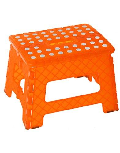 Hogar y Mas Taburete Plegable Diseño Original PVC Naranja