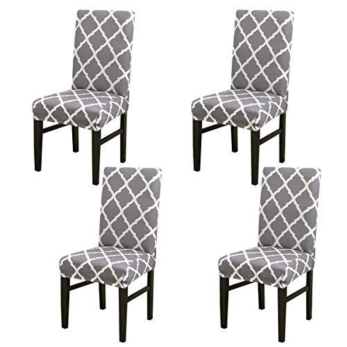 Aisaving - Funda protectora para sillas de comedor, 4 unidades, extraíbles, elásticas, lavables, universales, para hotel, comedor, ceremonia, banquete, boda, fiesta