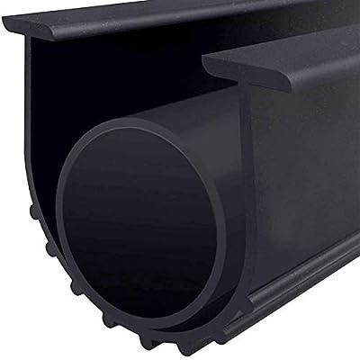 "Garage Door Bottom Weather Stripping Kit Rubber Seal Strip Replacement, Weatherproofing Universal Sealing Professional Grade T Rubber,5/16"" T Ends, 3 3/4"" Width X 16.5 Feet Lenth (Black)"