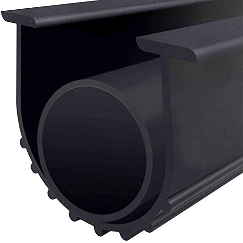 Garage Door U+O Bottom Weather Stripping Kit Rubber Seal Strip Replacement, Weatherproofing Universal Sealing Professional Grade T Rubber,5/16