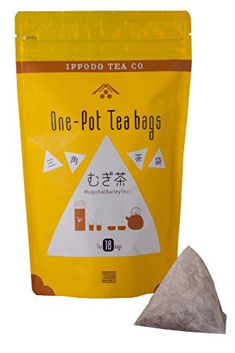 一保堂茶舗 三角茶袋むぎ茶18袋入
