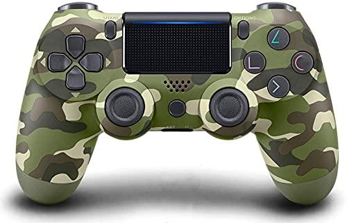 Controlador PS4 [versão atualizada], gamepad sem fio Bluetooth com cabo USB para Sony Playstation 4, compatível com PS4 / Pro / Slim / Windows PC (7/8 / 8.1 / 10) (verde Camo)