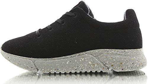 Laerke - Zapatillas de lana merino para hombre y mujer, color Negro, talla 40 EU