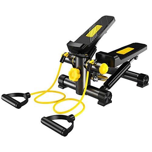 Mini Fitness Stepper multifuncional portátil WXH, con pantalla LCD, bandas de resistencia, cinta de correr segura y pedales cómodos, para ejercicios de movimiento de piernas