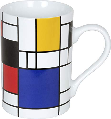 Könitz Bauhaus Kollektion Kaffeebecher|Henkelbecher|Becher mit Henkel (Mondrian small)