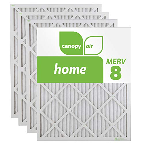 Canopy Air 16x25x1, Home AC Furnace Air Filter, MERV 8, Made in the USA, 4-Pack (Actual Size 15 1/2' x 24 1/2' x 3/4')