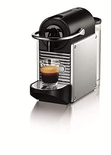 De'Longhi Nespresso EN 125.S Kapselmaschine Pixie Electric Aluminium | 1260 Watt | 0,7 Liter | Mit beleuchtetem Kaffeekapsel-Sammelbehälter