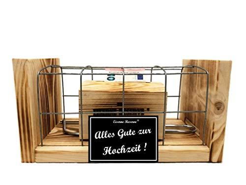 Alles Gute zur Hochzeit - Eiserne Reserve - Geldbox hinter Gitter - Geldgeschenk - Genial-Anders - Geschenk zur Hochzeit – ausgefallene originelle lustige Hochzeitsgeschenk – Geschenkidee