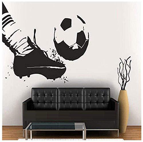Vinilo Tatuajes De Pared Adhesivo Jugador De Fútbol Equipo Balón Botas Niños Deporte Fútbol 56X89Cm56X89Cm