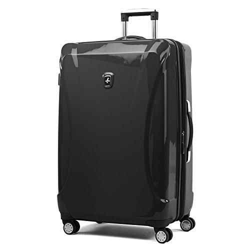 Atlantic Luggage Atlantic Ultra Lite Hardsides 28' Spinner Suitcase, jade black, Checked Large