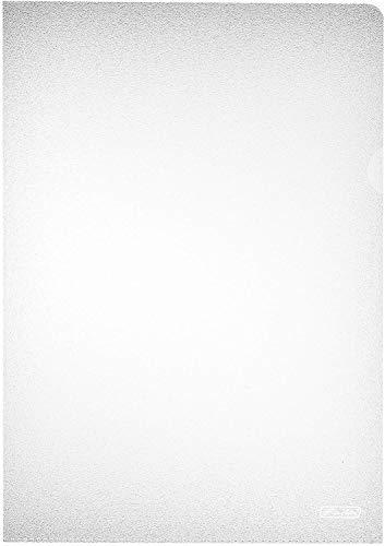Herlitz 10843753 Aktenhülle A4 PP genarbt Eco., 100er Packung, dokumentenecht