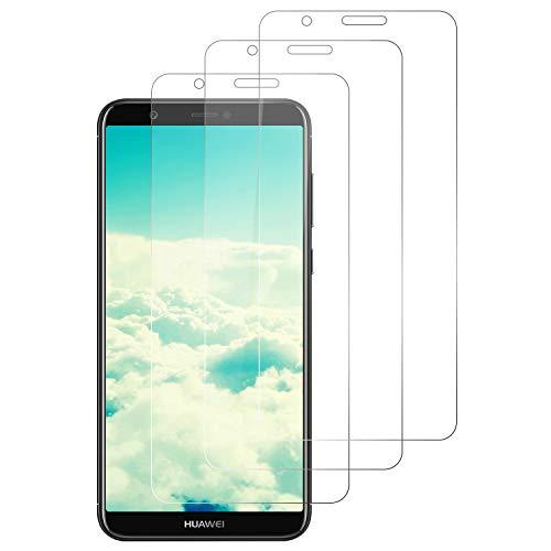 DOSNTO 3-Unidades Protector de Pantalla para Huawei P Smart 2018 Cristal Templado,[9H Dureza][Resistente a Arañazos][Kit Fácil de Instalar][Sin Burbujas] Vidrio Templado Screen Protector para P Smart