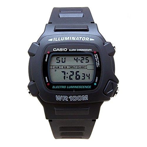 Reloj Casio W7401V, de resina negra, con mecanismo de cuarzo y esfera digital, para hombre