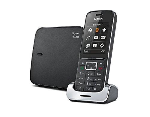 Gigaset SL450 Analog DECT telephone Identificador de llamadas Negro - Teléfono (Analog DECT telephone, Wired & Wireless handset, Altavoz, 500 entradas, Identificador de llamadas, Negro)