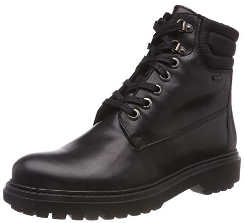 Geox Damen D ASHEELY NP ABX C Biker Boots, Schwarz (Black C9999), 40 EU