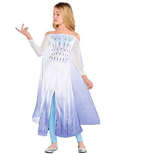 Party City Disney Frozen 2 Epilogue Elsa Halloween Costume for Kids, 3T-4T, Includes Dress, Leggings, For Pretend Play
