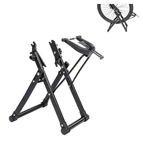 Bike Truing Stand, Aluminiumlegierung Mechanic Bicycle Wheel Truing Stand für Fahrräder 16-29 Zoll