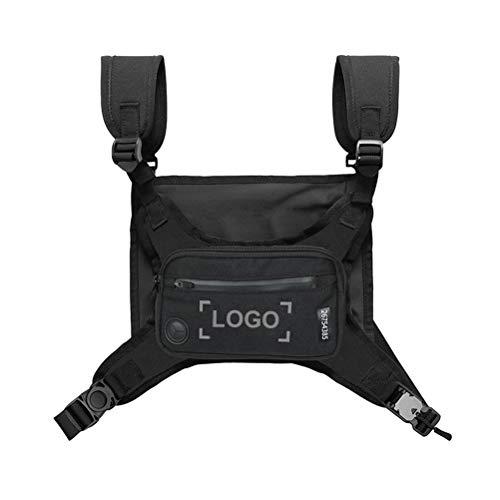LINONI Unisex Taktische Brusttasche Mode Weste Hip Hop Weste Streetwear Tasche Waist Pack Funktionale Brust Rig Tasche für Damen Herren