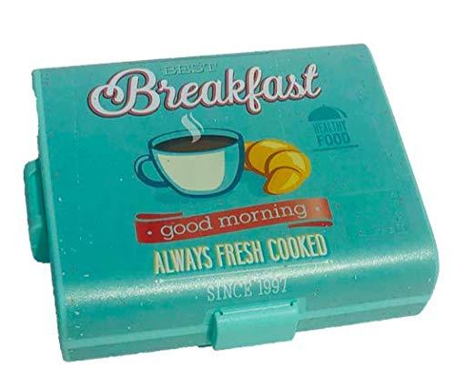 Home Creation Brotbox Lunchbox Vesperbox Frühstücksdose (Breakfast flach)
