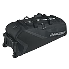 Large main compartment fits helmet, glove, and cleats and complete set of catchers gear Individually padded bat sleeves Ventilated shoe compartment Bottom rails and 2 integrated fence hooks Removable decoration panel (fits 18 inch hoop)