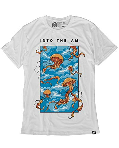 INTO THE AM Float On Men's Graphic Tee Shirt (White, 2X-Large)