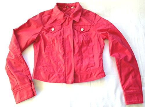Jou Jou Junior Faux Leather Cher Jacket, Medium , Red