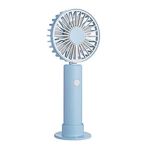 LOKS USB Ricaricabile Piccolo Hanging Neck Ventilatore tenuto in Mano, Portatile Indoor e Outdoor Sports Hanging Neck Fan, Regolabile Direzione del Vento Angolo,Blu