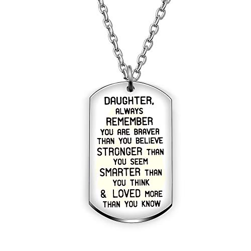 Stronger Than Seem Braver Than Believe Smarter Than Think Wife Valentine Gift Birthday Gift Necklace Name to My Alycia Always Remember That I Love You Love Husband Loved Than Know