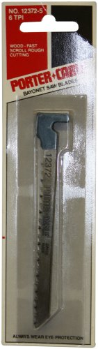 PORTER-CABLE 12372-5 4-1/4-Inch 6 TPI Wood Cutting Hook-Shank Bayonet Saw Blade (5-Pack)