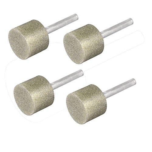 Aexit 25mm Schleif-, Schrupp- & Trennmaterial x 21mm Diamant beschichtete Zylindrische Rotary Schleifscheiben für Winkelschleifer Schleifen-Schleifstift 4