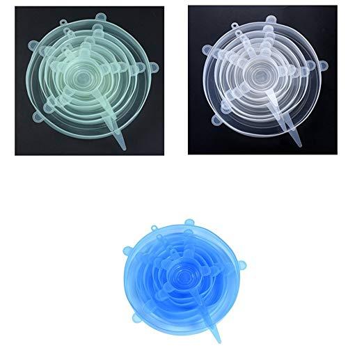 Tapas de silicona, tapa de silicona libre de BPA expandible, tapa ...