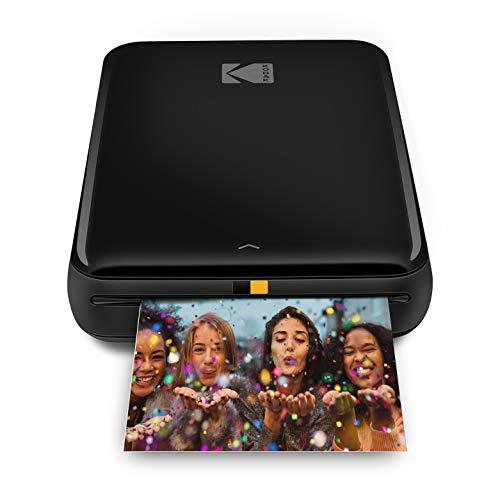 KODAK Step Drucker Drahtloser mobiler Fotodrucker mit Zink-Technologie druckt 2 × 3 Zoll große Fotos (schwarz) KODAK-App für iOS- und Android-Geräte mit Bluetooth- oder NFC-Smart-Gerät.