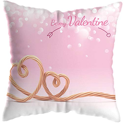"""White Throw Pillows Cover Christmas Pillow Cover Decorations - 2 PCS 18""""X18"""" Cushion Cover Decorative Couch Plush Cotton Square for Sofa, Couch, Bed and Car,F"""