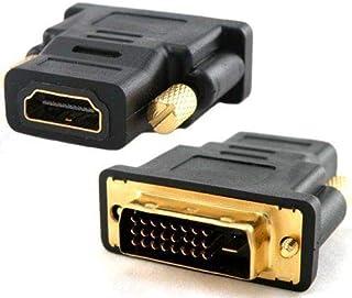 وصلة فيديو اللون من HDMI انثي الي DVI-D ذكر , ذهبية اللون