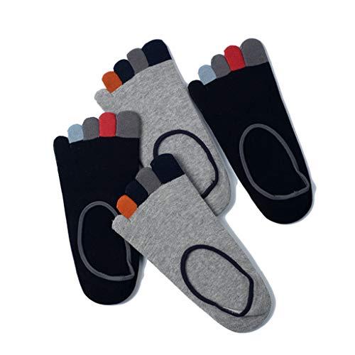Toe Socks for Men, Classique Crew Low Cut Cheville Coton Course, Randonnée, Marche, Camping (Pack De 4),G