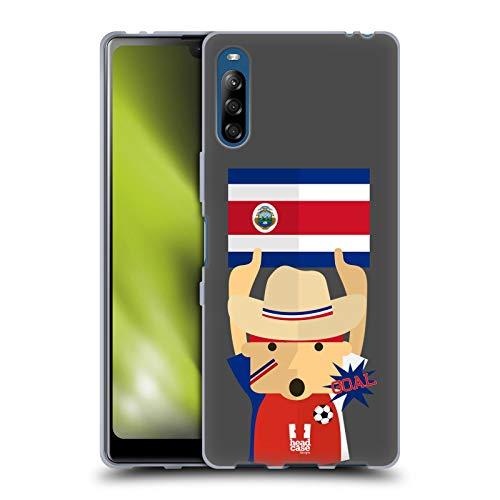 Head Case Designs Costa Rica Entusiasta del Fútbol Carcasa de Gel de Silicona Compatible con Sony Xperia L4