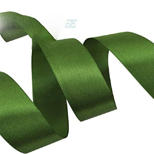 (25 meter/rol) Satijnlint Singelband Singelband Gift Kerstlinten (20/25/40/50 mm), Amy Green, 25 mm