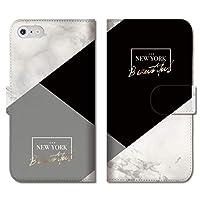chatte noir iPhone8Plus ケース iPhone7Plus ケース 手帳型ケース 手帳型 おしゃれ 大理石風 マーブル marble ペア カップル ビジネス NYC B 手帳ケース