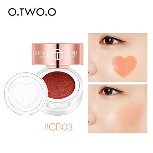 Blush Rose MISS ROSE12Color Blush Red Smooth Dull Blush Naturellement éclaircit le teint Rouge,Blusher Palette Cream Blush Longue durée Maquillage du visage Blusher
