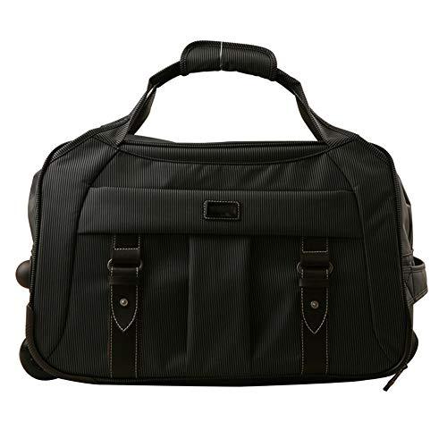 ZoSiP Golf Reisetasche Sport Fitness Tasche Golf-Bekleidung Tasche mit Rollen Trolley Pulley Tasche for Männer und Frauen Workout Sporttasche Sport Gym Reisetaschen (Color : Black, Size : 50x28x32cm)