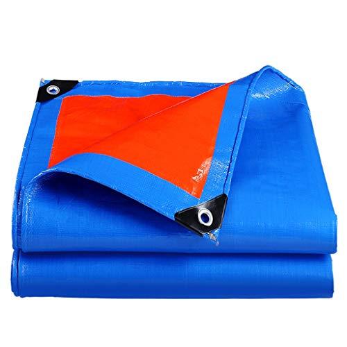 Große Plane Leichte 184 g/m² Blau Orange PE Atmungsaktive tragbare Plane mit Ösen Temporäres Zelt Ground Shelter Gartenhaus (Size : 4x6m)