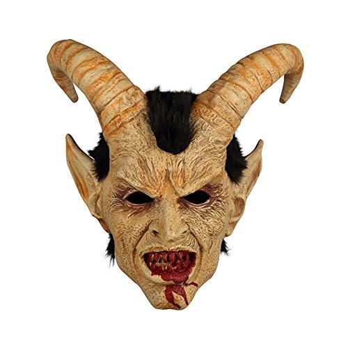 YaPin Cara Humana Máscara de Lucifer Capucha Espectáculo de Halloween Horror...