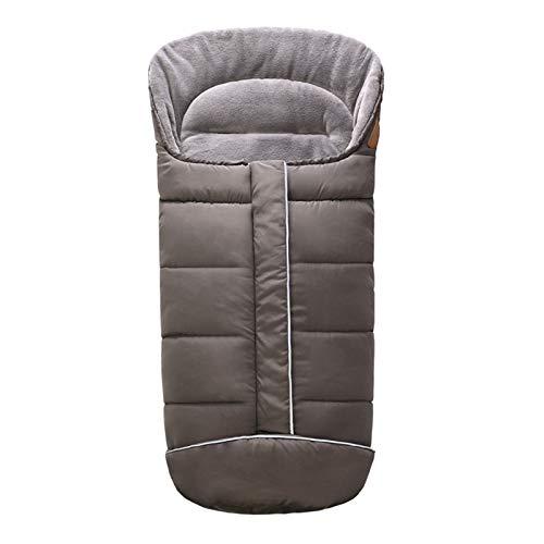 DJXLMN Saco de Dormir para Cochecito de bebé, edredón cálido Grueso y Desmontable, Manta para Cubrir los pies para Asientos de Coche a Prueba de Viento e Impermeables,Gris