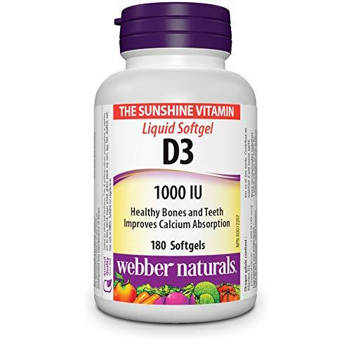 Webber Naturals Vitamin D3 Softgel, 1000 IU