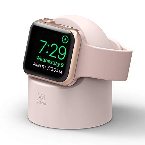 Elago W2 Supporto W2 Stand Compatibile con Apple Watch SE/Serie 6 (2020)/ Serie 5 / Serie 4 / Series 3 / Series 2 / Series 1 / 44mm / 42mm / 40mm / 38mm - Stand Notturno, Gestione Cavi (Lovely Rosa)
